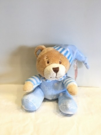 Baby Blue Rattle Bear