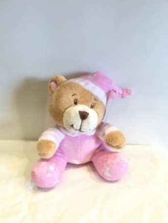 Baby Pink Rattle Bear