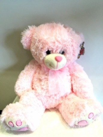 Charlie Medium Pink Bear