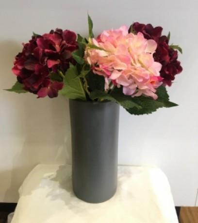 Charcoal Cylinder Vase