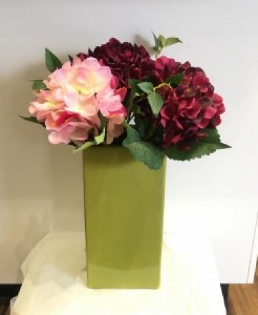 Olive Ceramic Large Vase