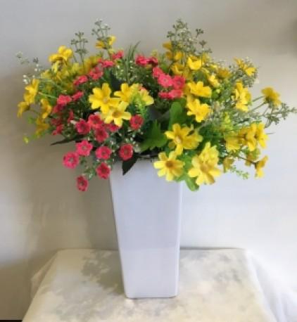 White Ceramic Medium Vase