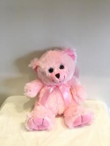 Pink Sitting Bear